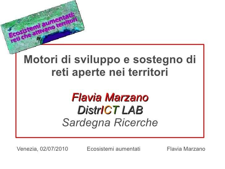 Motori di sviluppo e sostegno di       reti aperte nei territori                   Flavia Marzano                   DistrI...