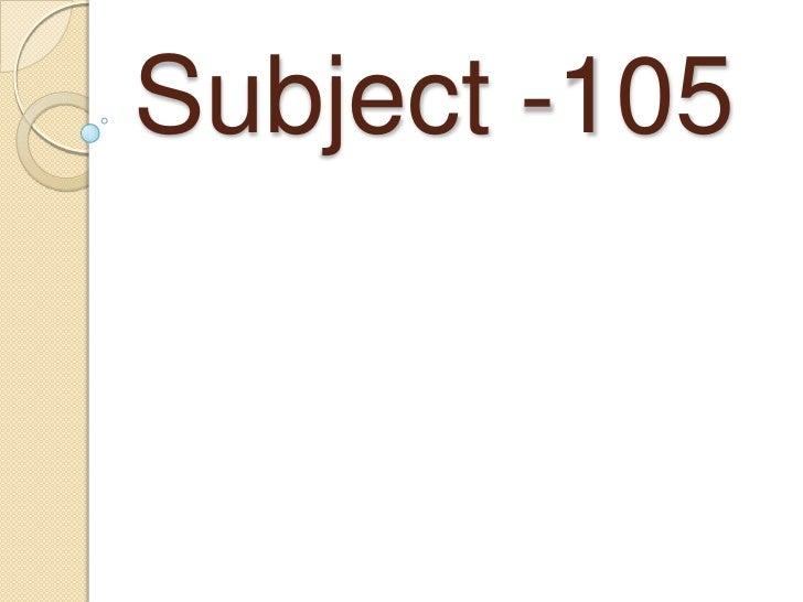 Subject -105<br />