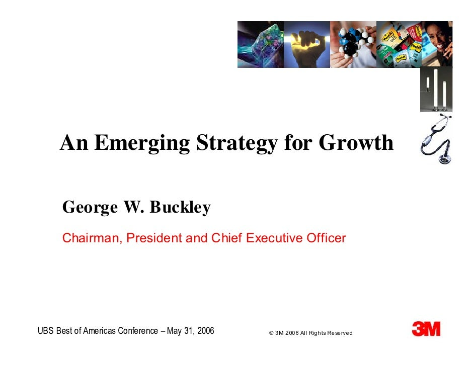 An Emerging Strategy for Growth        George W. Buckley       Chairman, President and Chief Executive Officer     UBS Bes...