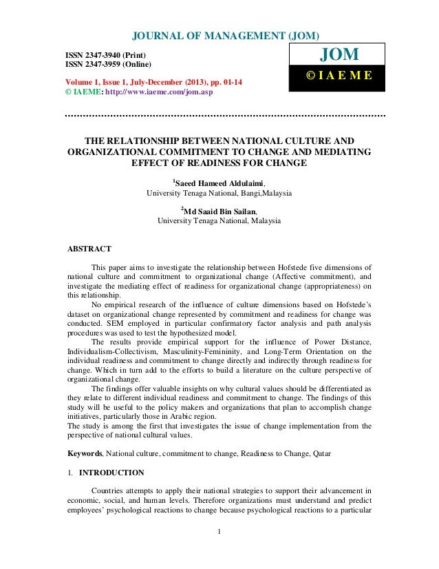 Journal of Management (JOM) ISSN 2347-3940 (Print), ISSN 2347 – 3959 (Online), Volume 1, Issue 1, July-December (2013) 1 T...