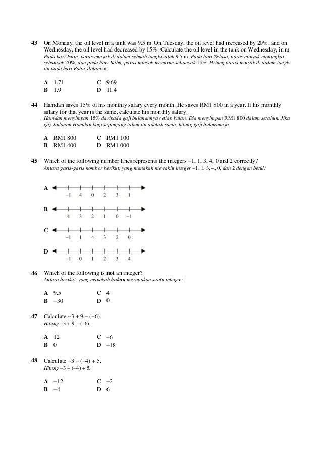 100 Soalan Matematik Ting1
