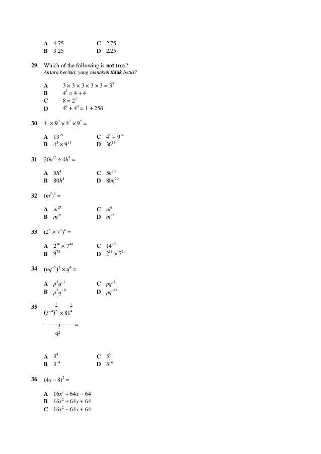 100 Soalan Matematik Ting3
