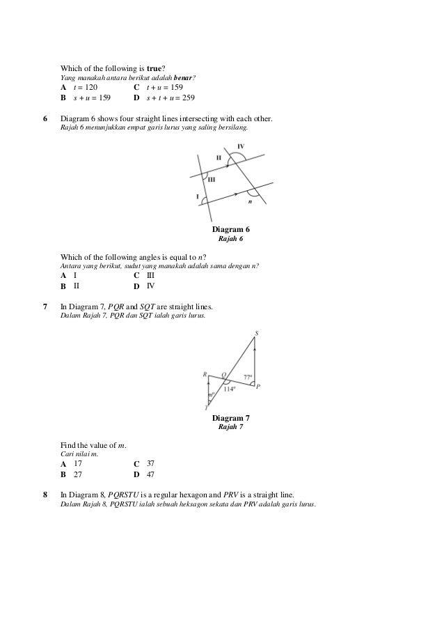 100 soalan matematik ting3 diagram 5 rajah 5 3 ccuart Gallery