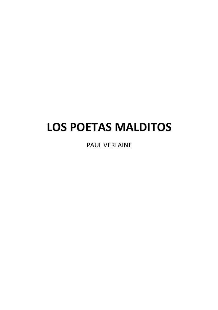 105401370 Los Poetas Malditos Paul Verlaine