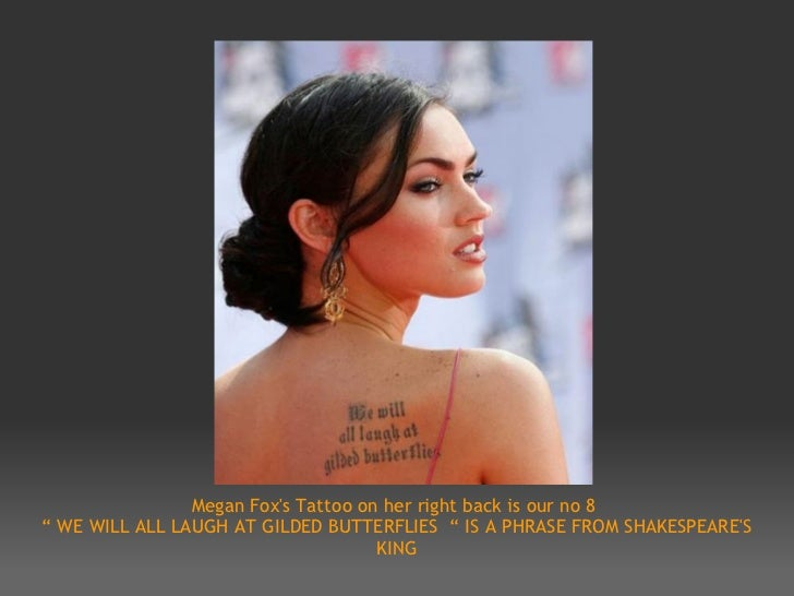 Top 10 Tattoos Of Hollywood Celebrities