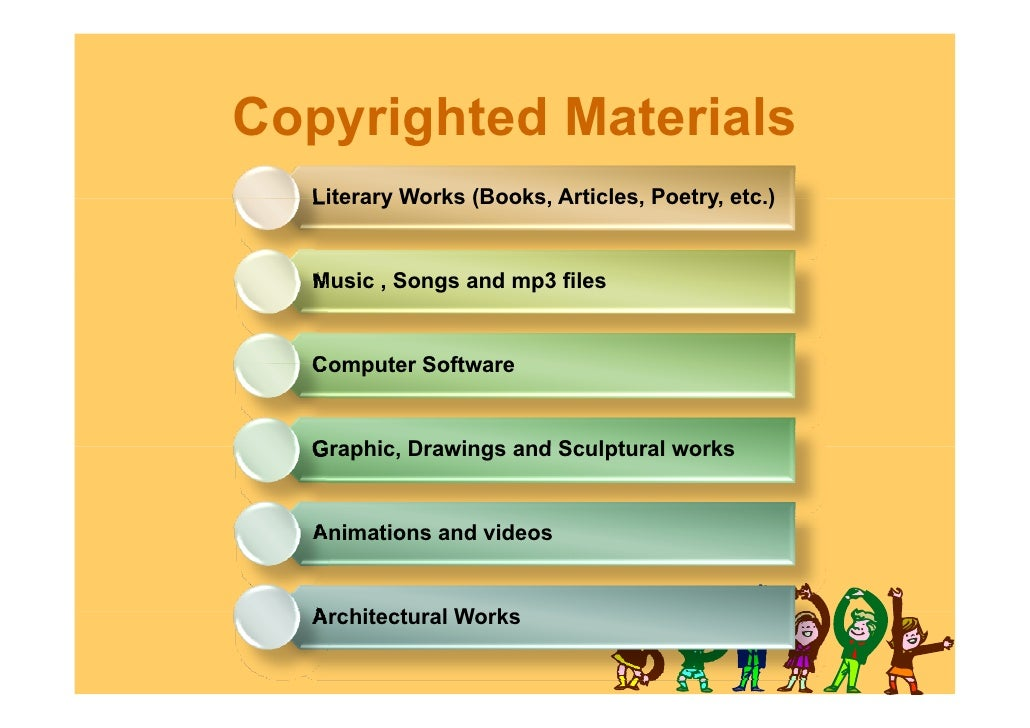 Intellectual property rights for kids for List of natural items