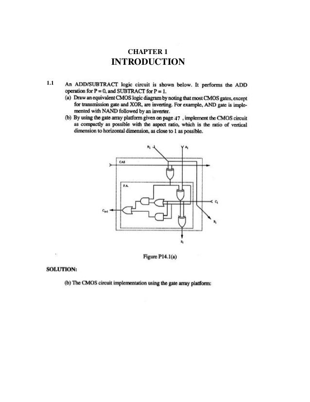 Digital Integrated Circuits solution manual