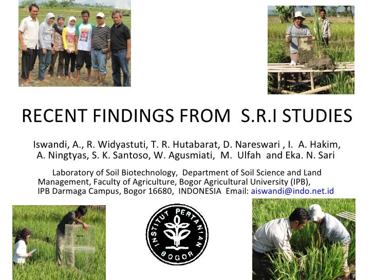1059 Recent Findings From SRI Studies