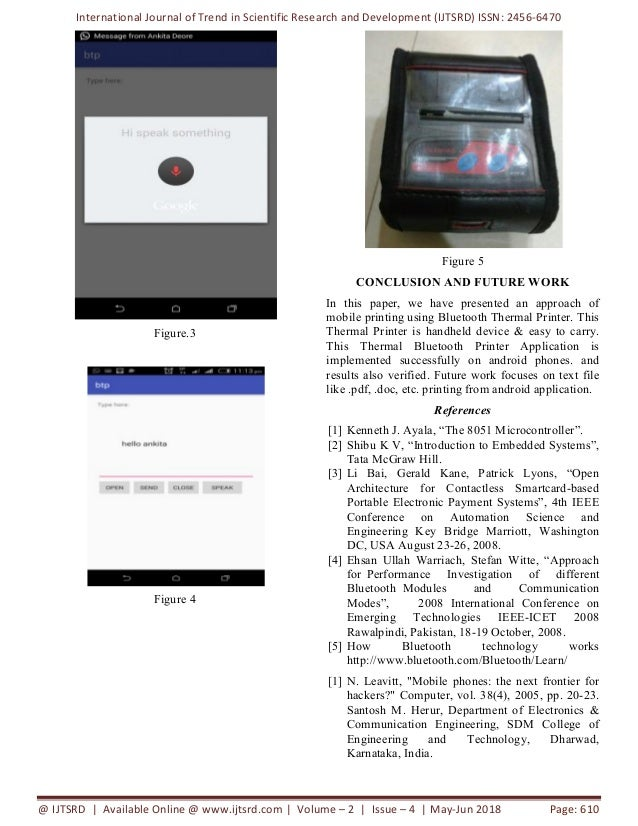 Effective Printing Text using Bluetooth Technology from