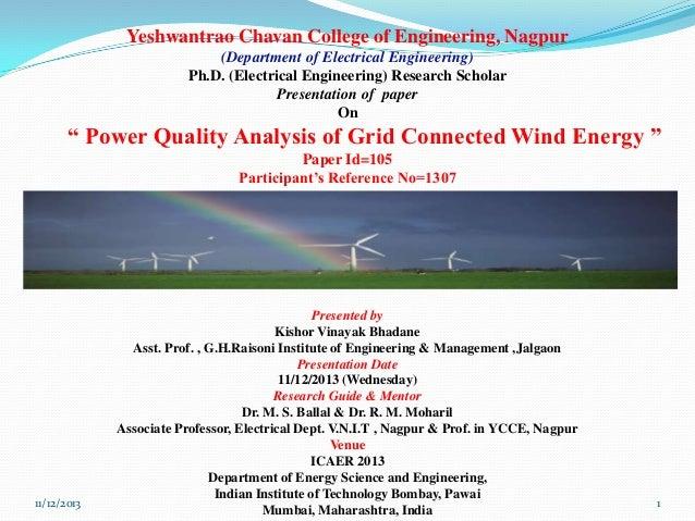 Yeshwantrao Chavan College of Engineering, Nagpur (Department of Electrical Engineering) Ph.D. (Electrical Engineering) Re...