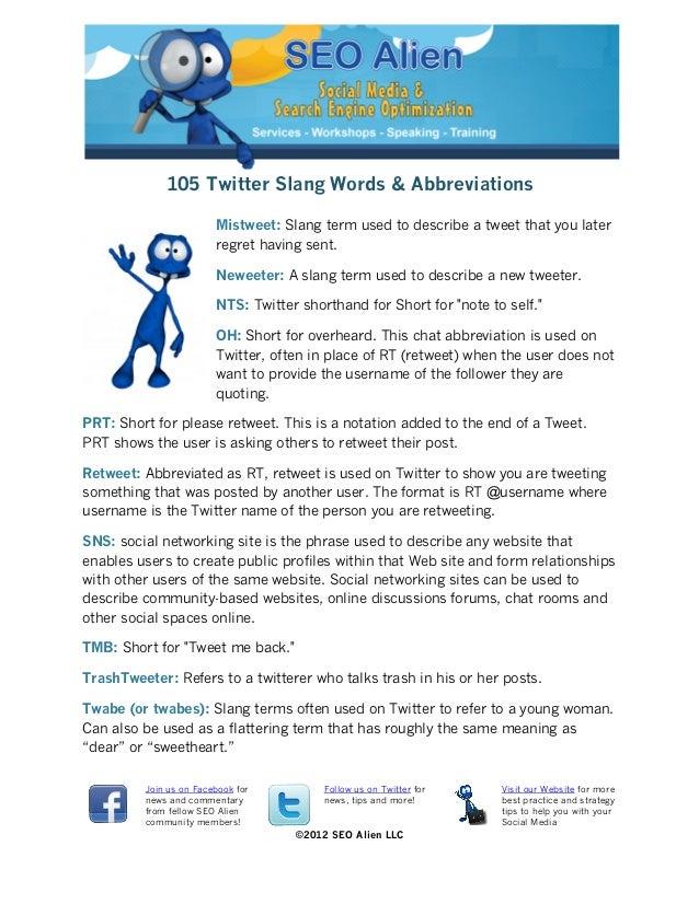 105 Twitter Slang Words & Abbreviations