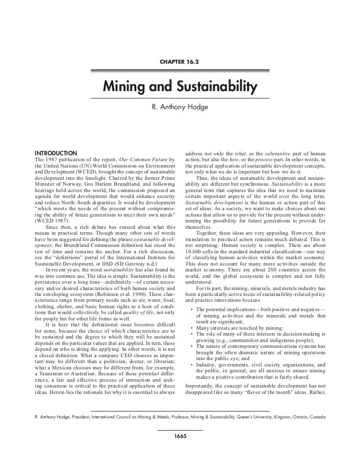 CHAPTER 16.2                                   Mining and Sustainability                                                  ...