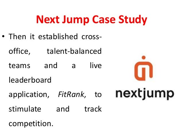 Nextjump Case Study Gamification In Employee Engagement