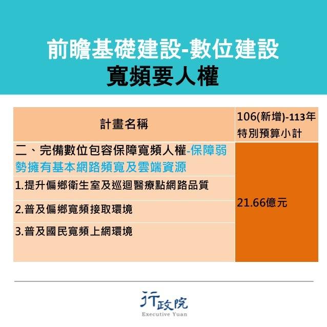 1060321行政院前瞻基礎建設計劃-數位建設記者會簡報資料 Slide 3