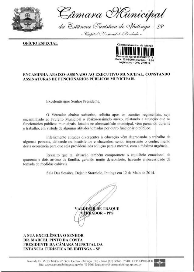 E TRAQUE DOR — PPS -N~,eta -te/À€~ de 4~ja - sP _ OFÍCIO ESPECIAL Câmara Municipal de Ibitinga III1111111111 111 111111 11...