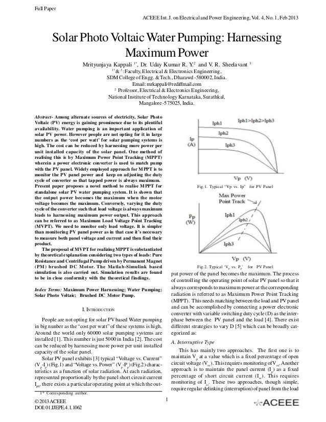 Full Paper                                                      ACEEE Int. J. on Electrical and Power Engineering, Vol. 4,...