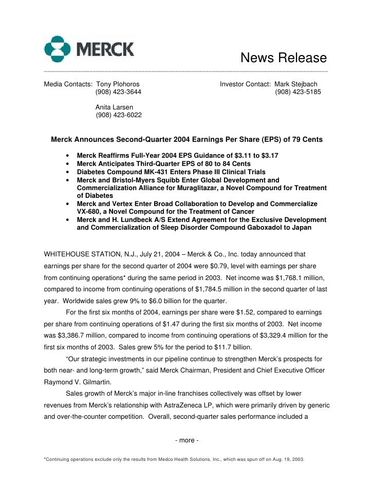 News Release _____________________________________________________________________________________________  Media Contacts...