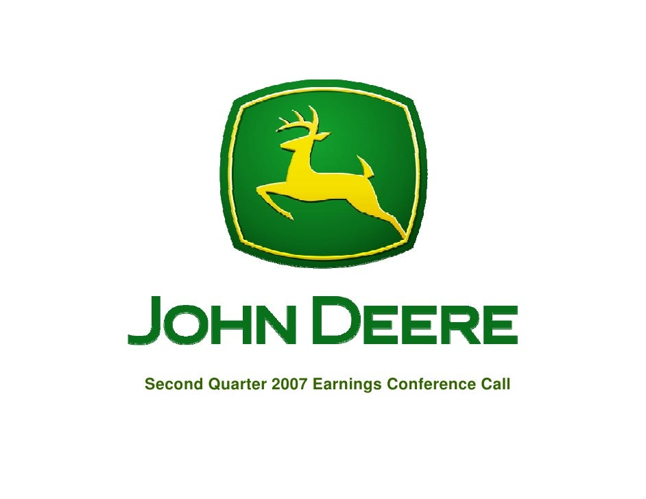 Second Quarter 2007 Earnings Conference Call