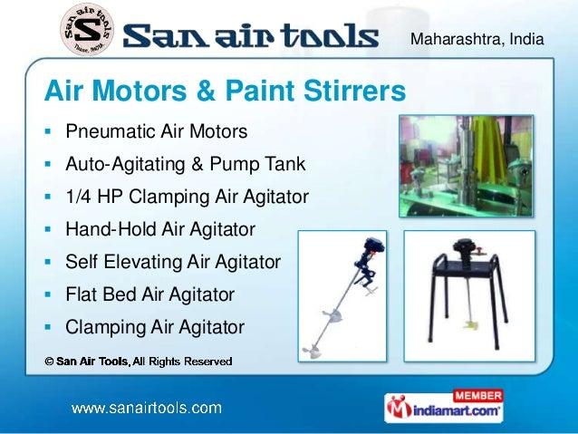 Maharashtra, IndiaAir Motors & Paint Stirrers Pneumatic Air Motors Auto-Agitating & Pump Tank 1/4 HP Clamping Air Agita...