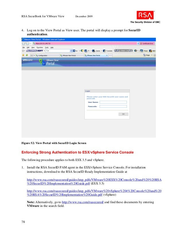 Rsa Securbook For Vmware View