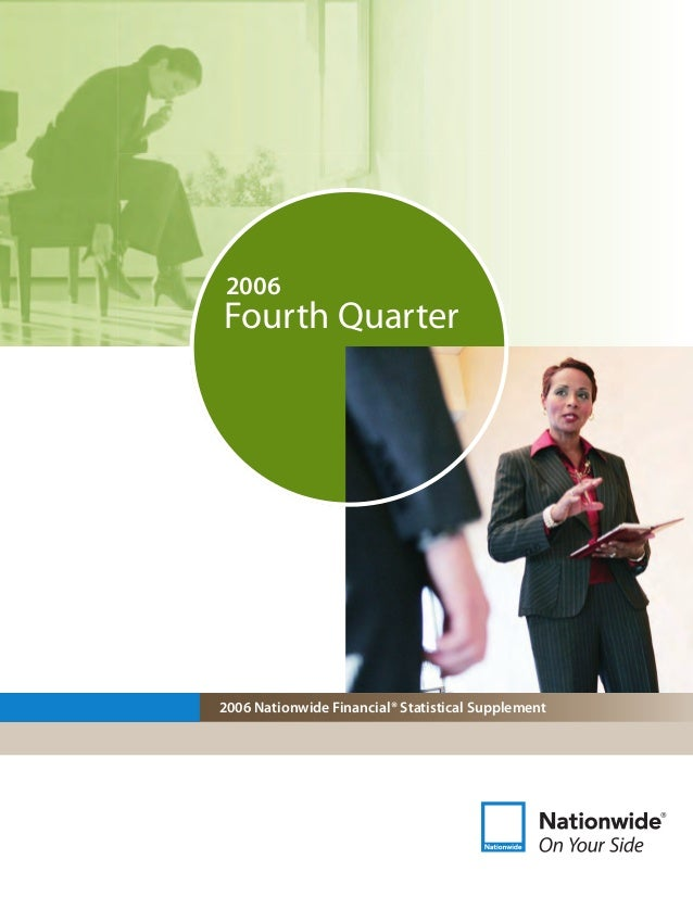 2006 Nationwide Financial® Statistical Supplement Fourth Quarter 2006