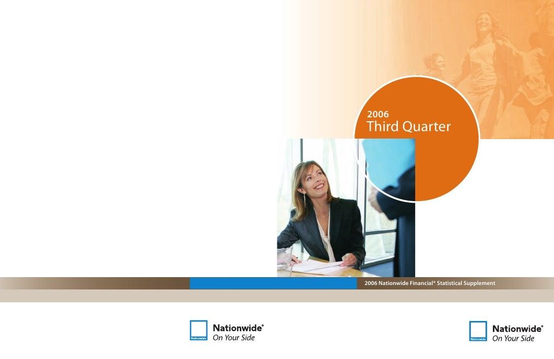 2006 Third Quarter     2006 Nationwide Financial® Statistical Supplement