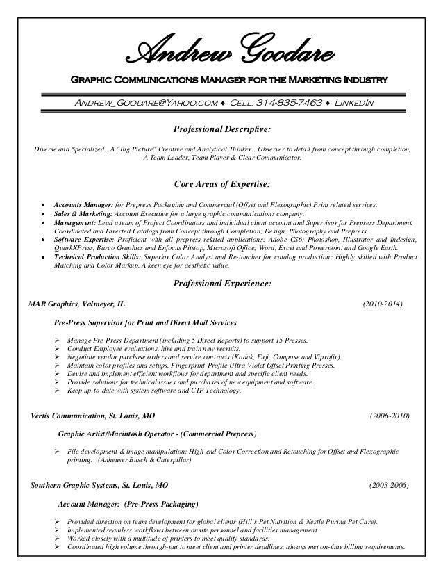 prepress resume