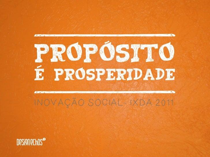  INOVAÇÃO SOCIAL- IXDA 2011