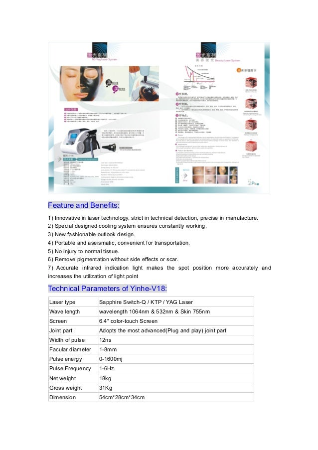 1064nm 532nm portable nd yag laser machine for toenail fungus tattoo removal Slide 2