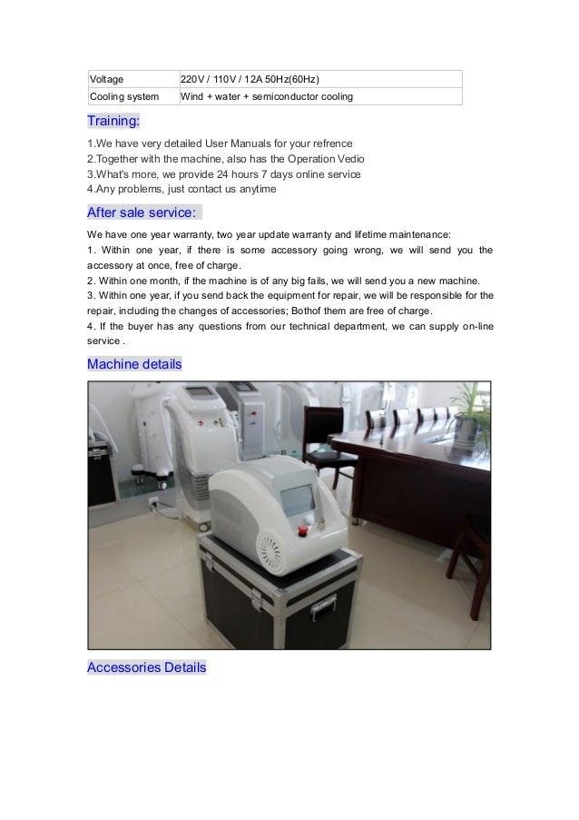 1064nm 532nm portable nd yag laser machine for toenail fungus tattoo removal Slide 3