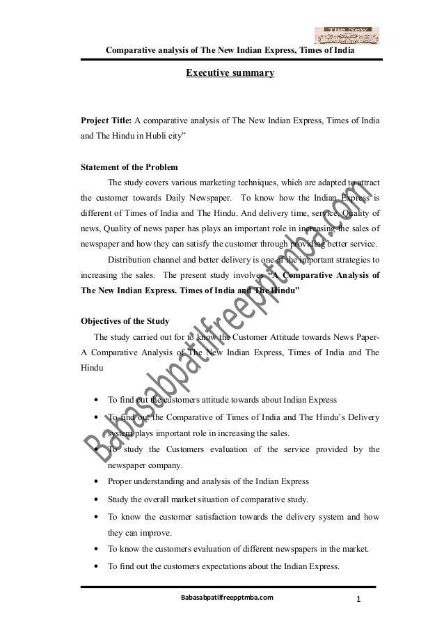 newspaper project report