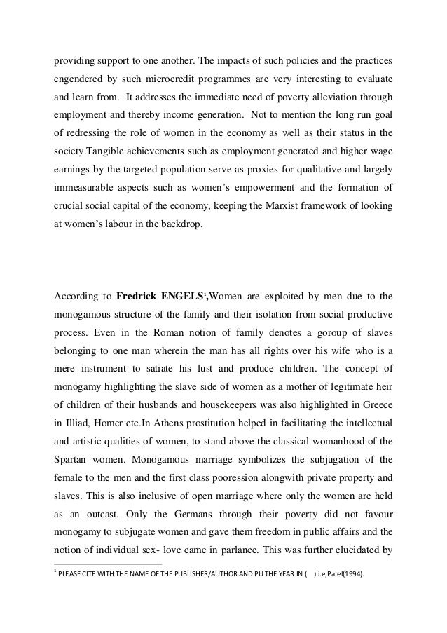 Feminization of poverty essay