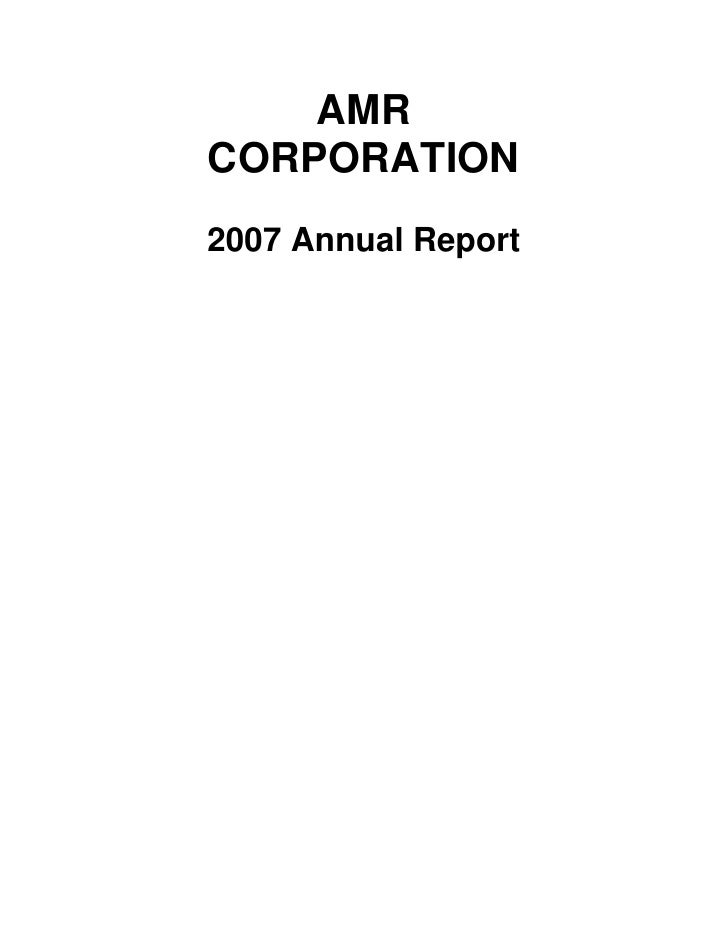 AMR Annual Report 2007