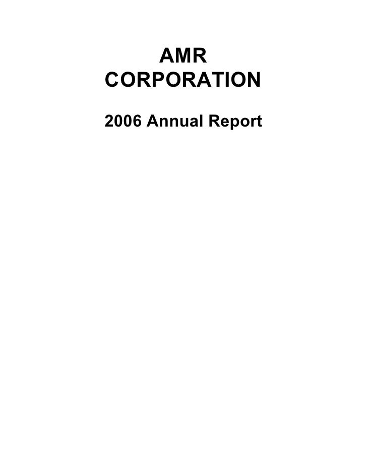 AMR Annual Report 2006