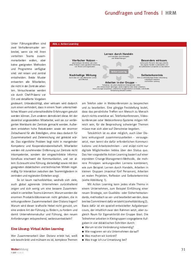 Grundfragen und Trends   HRM Weiterbildung 1 2017 • S.30-33 31 Unter Führungskräften sind zwei Verhaltensmuster ver- brei...