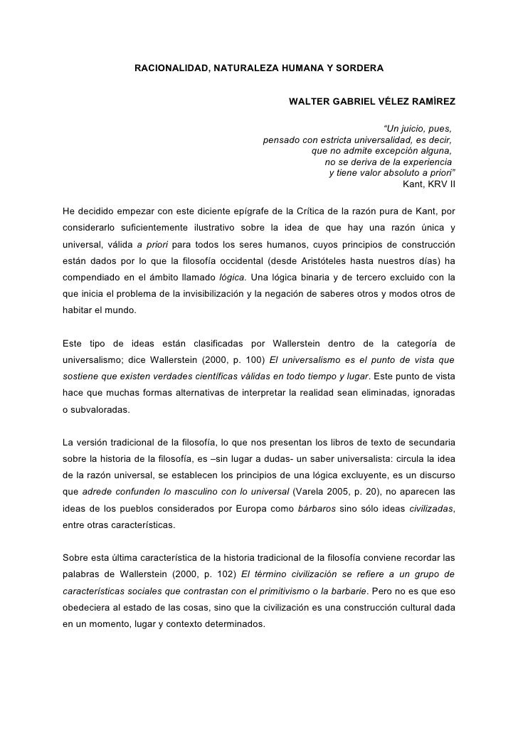 RACIONALIDAD, NATURALEZA HUMANA Y SORDERA                                                          WALTER GABRIEL VÉLEZ RA...