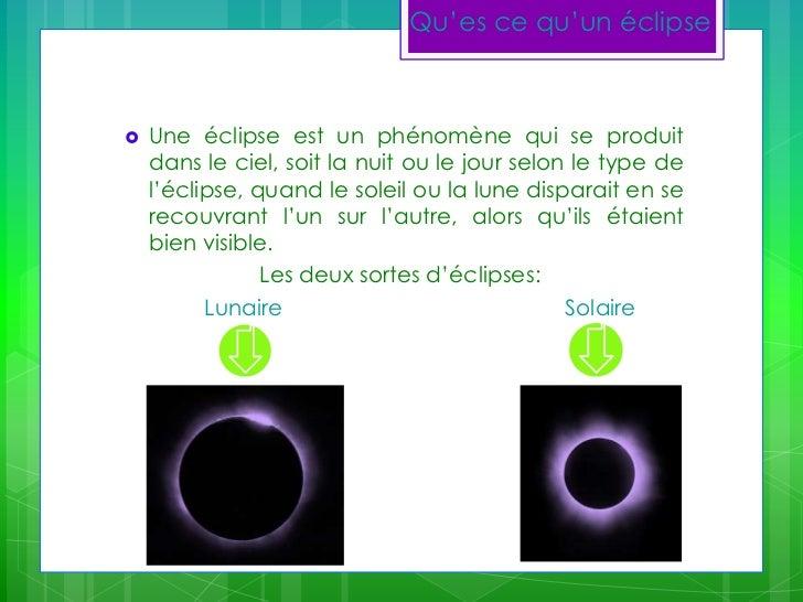 Les éclipses lunaires et solaires et leur différences