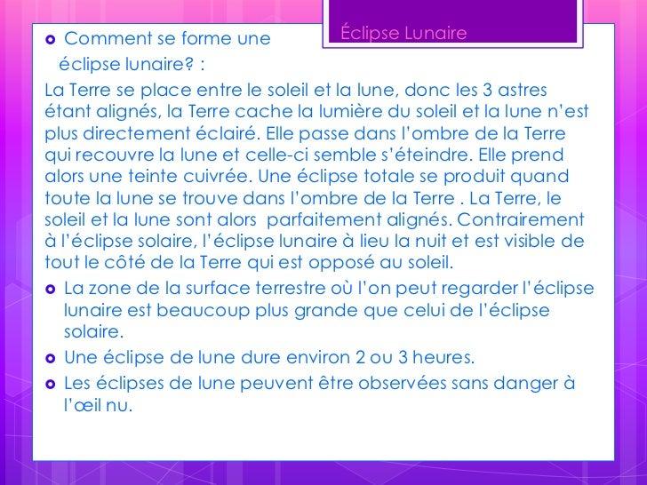 La différence entre un éclipse lunaire et solaire<br />Solaire:L'éclipse solaire se produit lorsque la Lune se déplace dur...