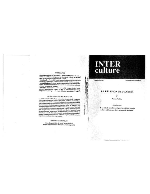 107 la religion de l'avenir. cahier i. r. panikkar. (document à télécharger en format pdf, 1,4 mb).