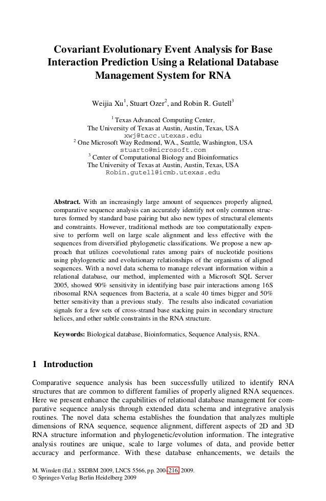 M. Winslett (Ed.): SSDBM 2009, LNCS 5566, pp. 200–216, 2009.© Springer-Verlag Berlin Heidelberg 2009Covariant Evolutionary...