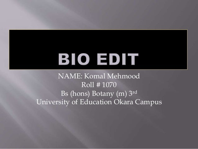 how to use bioedit