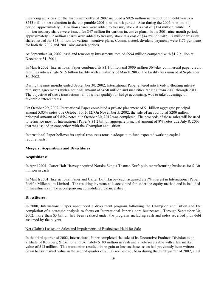 international paper Q3 2002 10-Q