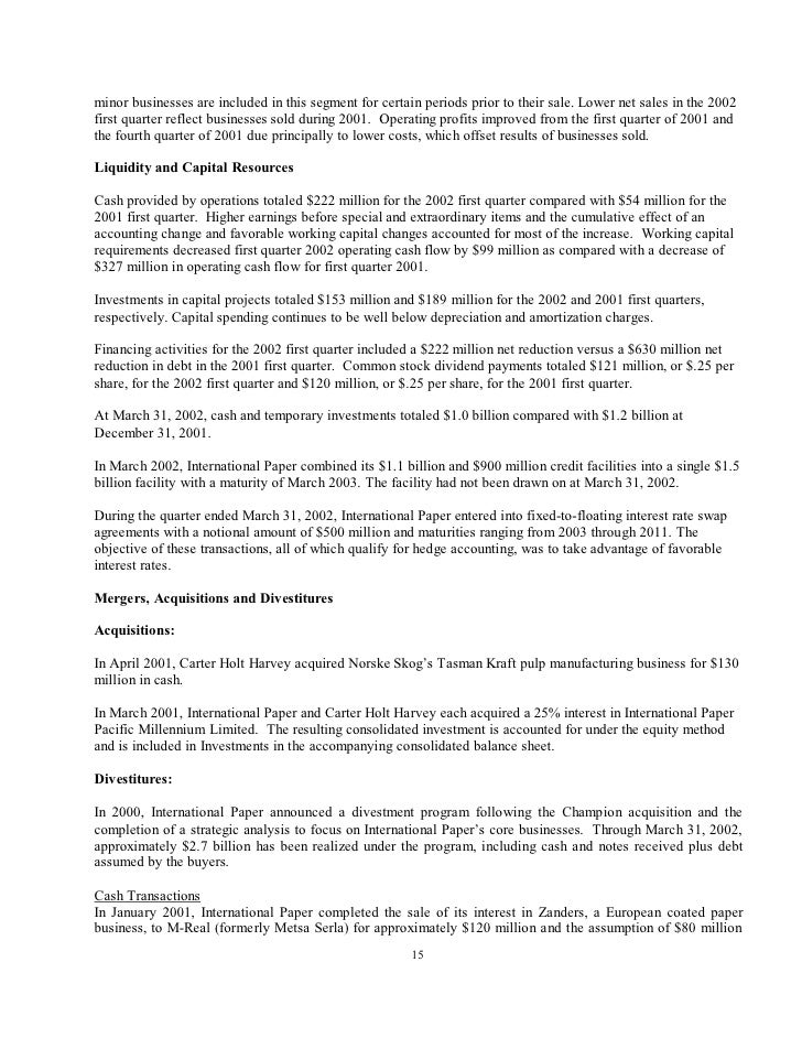 international paper Q1 2002 10-Q
