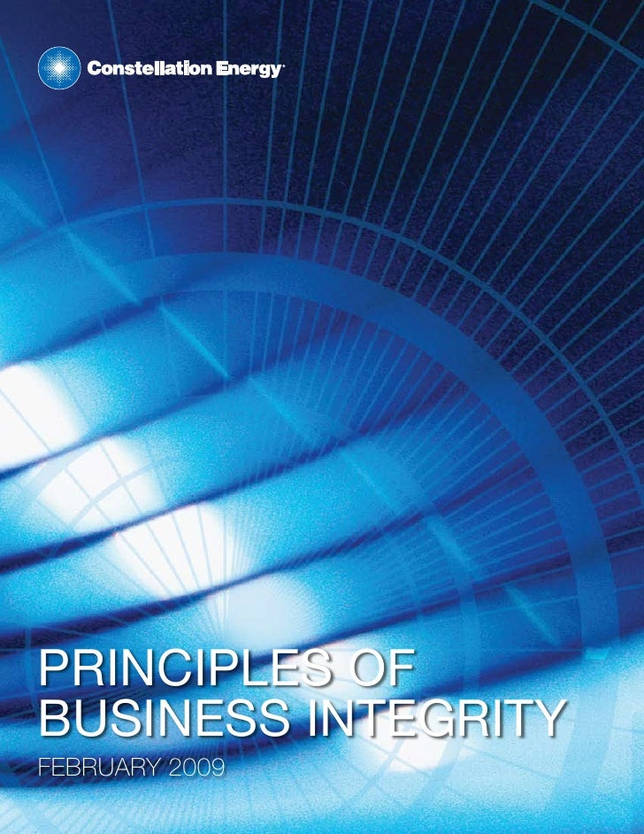 PrinciPles of business integrity February 2009