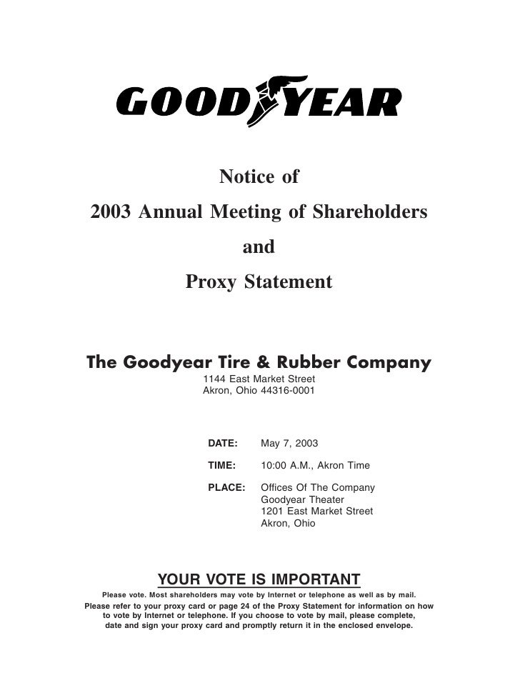 Notice of  2003 Annual Meeting of Shareholders                                          and                           Prox...