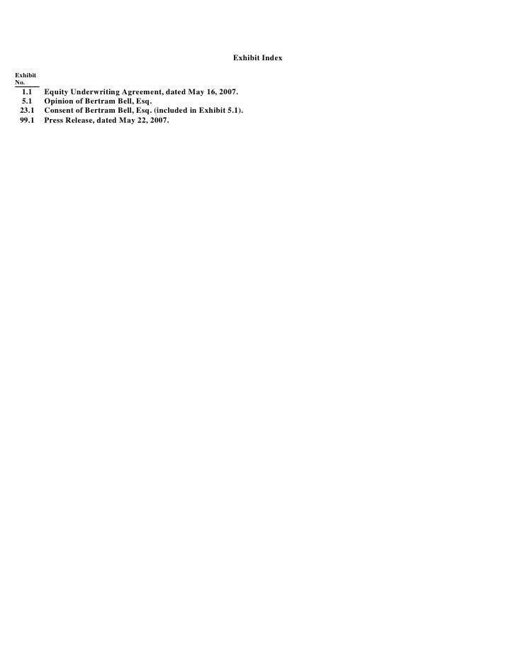 Goodyear 8k Reports 052207