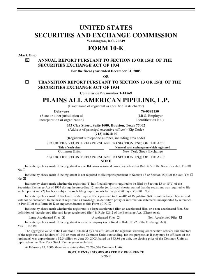 UNITED STATES              SECURITIES AND EXCHANGE COMMISSION                                                      Washing...
