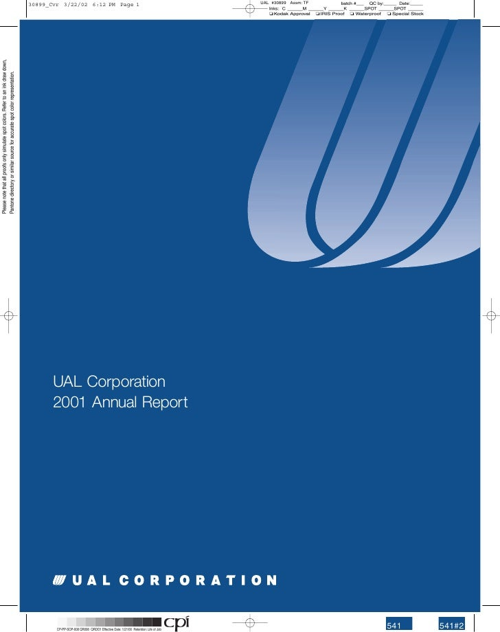 UAL Corporation 2001 Annual Report