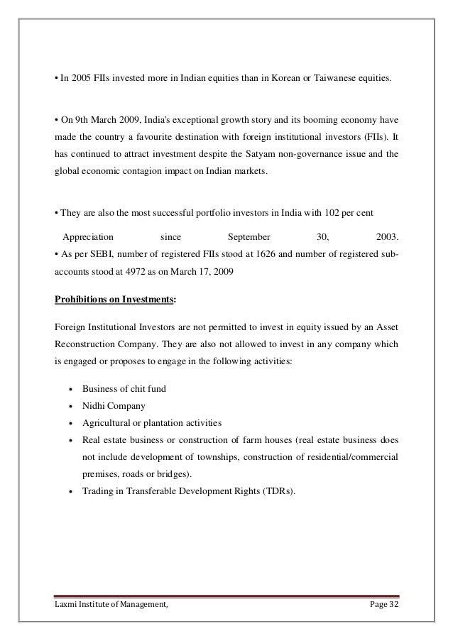 A STUDY ON FDI ON BSE STOCK MARKET