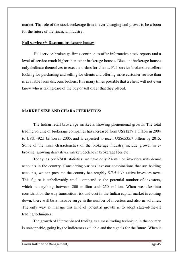 a study on fdi on bse stock market page 44 45 market